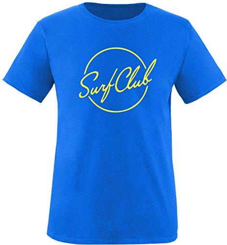 EZYshirt® Surfclub Herren Rundhals T-Shirt Royal/Gelb