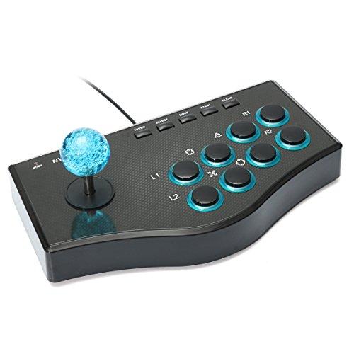 Festplatten Rahmen Abdeckung Joystick Controller Arcade Fighting Stick USB (1.1/2.0) für PC (Windows2000/XP/Windows 7/8/10mit den Modi Digitale und analoge in das System)/PS2/PS3/Android