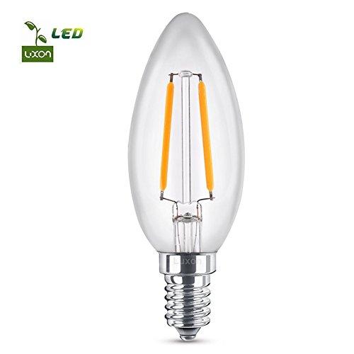 LED Glühbirne E14 LED Lampe C35 Kerzenlampe 2700K Nicht Dimmbar Energiesparlampe Luxon Warmweiß