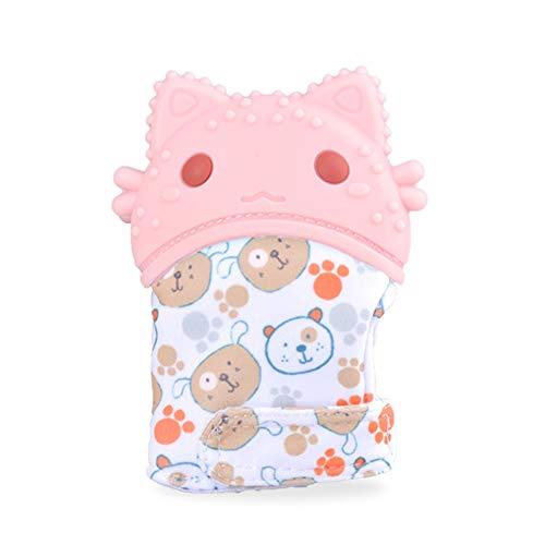 BABY FFM Gants Molaires en Silicone pour Jouets De Dentition pour Bébé Anti-Douleur Apaisants pour Bébé Moufle De Dentition 10 X 6,5 Cm (4 X 2.5 in),Pink