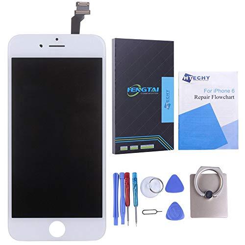 Htechy Kompatible mitiPhone 6Display WeißKomplettes LCD Ersatz Retina Set Für Touchscreen Bildschirm Glas mit Kostenlose Werkzeug