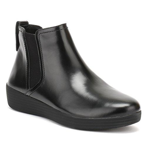 FitFlop Damen Superchelsea Tm Boot High-Top Schwarz