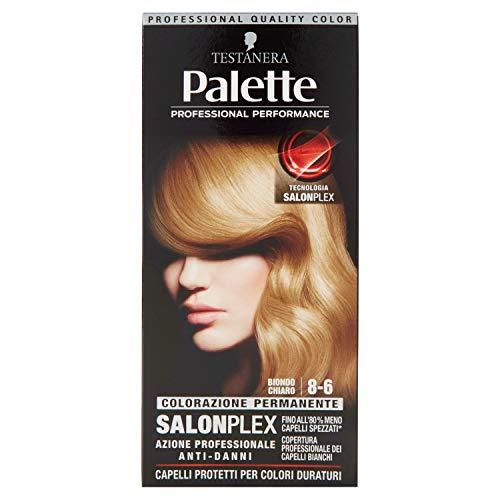 teinture pour les cheveux 8-6 blond clair