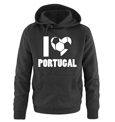 I LOVE PORTUGAL – Herren Hoodie – Schwarz / Weiss Gr. 5XL
