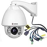 IMPORX PTZ IP domo Cámara,1080p Full HD con zoom óptico de 30X,con función de Auto Tracking,alta velocidad y soporte ONVIF,visión nocturna IR de 120M, soporte P2P y software (Versión de Audio)