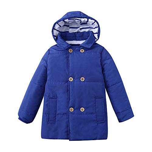 ♂vovotrade♀cappotto con cappuccio a maniche lunghe bambino, giacca invernale bambina europa e america giacca con cappuccio cuciture bambino caldo cappotto spesso piumino antivento doppio petto