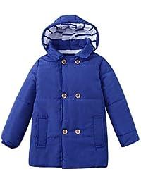 ASHOP Ropa Bebe Otoño Invierno, Niña Niño Impermeable Abrigo Chaqueta con Capucha Caliente Grueso Tops 2-7 años