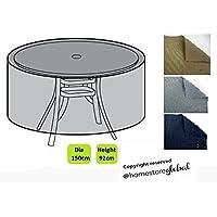 HomeStore Global grand Housse de protection pour Ensemble bistro/table ronde de – Épais et de haute qualité durable 600D Polyester toile avec des coutures doubles pour plus de solidité, anti-humidité