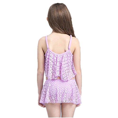 SHISHANG Kindbadebekleidung Art und Weise nette Mädchen Bikini Rock Typ 8-16 (Jahre) Sommer gelb lila Farbe Blue