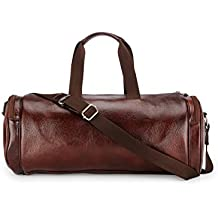TEAKWOOD Handcrafted Leather Cross-body Duffle Bag (Brown)