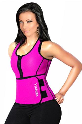 yianna-femme-corset-minceur-sein-nu-avec-double-bretelles-noir-en-latex-sexy-bustier-ventre-ceinture
