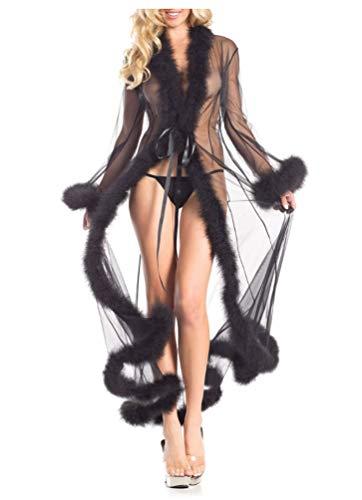 Plus Größe Leichte Bis Kostüm - ShineGown Feder Robe Kostüm Zubehörteil für
