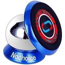 Nochoice® Soporte Magnético Universal de Soporte Auto Car Mount Metálico de 360° Rotación para IPHONE SAMSUNG HUAWEI teléfono inteligente Tablet etc(35 Blue)
