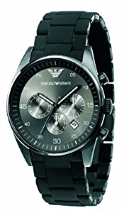 Reloj Emporio Armani AR5889 de cuarzo para hombre con correa de acero inoxidable, color negro de Emporio Armani