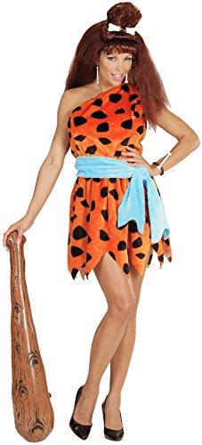 Widmann 05782 - Erwachsenenkostüm Stoneage Woman, Kleid, (Fred Halloween Kostüme Wilma Und)