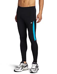 New Balance Men's Long Leggings, Mens, MRP2353 T.US, Black/Kinetic Blue, XS