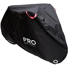Pro bicicleta cubierta para al aire libre bicicleta de almacenamiento - tamaño grande - resistente Ripstop material, resistente al agua y rayos UV - Protección de todas las condiciones climáticas para, 29er de montaña, carretera, Cruiser y Hybrid bicicletas, negro - LARGE