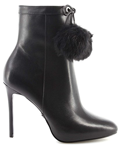 Damen Stiefel Schuhe Pumps MICHAEL KORS Remi Bootie Leather Nappa Schwarz Black