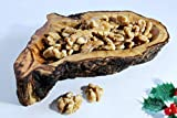 Nuss Holzschale, Hand geschnitzt Jahrhundert alten Olivenholz, einzigartiges Geschenk für Geburtstag, Hochzeit, Jubiläum, Haus Erwärmung, dekorative Holzschale, für ihn, für sie. Gratisversand.