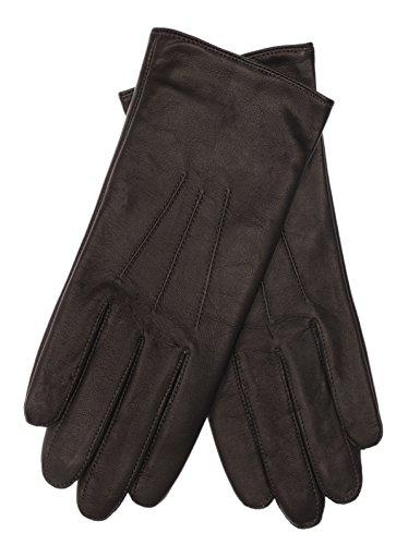 fake smartphones EEM Touchscreen Handschuhe AMELIE-IP für Damen aus echtem Leder, Smartphone Handschuh, schwarz M