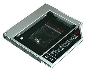"""HDD/SSD Caddy für Apple iMac 2009 bis 2011 (20"""" 21.5"""" 24"""" 27"""") - SATA III Caddy (ersetzt Combo-/SuperDrive) - Festplattenrahmen Einbaurahmen Adapter 12.7 mm SATA auf SATA - TheNatural2020"""