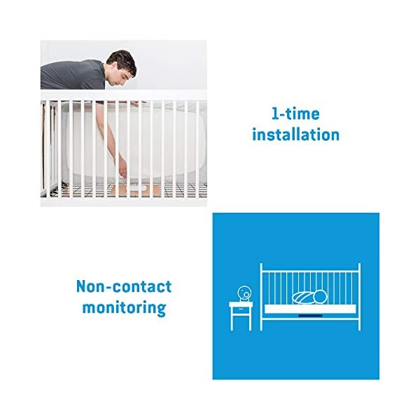 Angelcare Ac127 Baby Movement Monitor, with Sound Angelcare New smaller, wireless sensasure movement sensor pad Alarm will sound if there is no movement after 20 seconds Non-contact monitoring 5