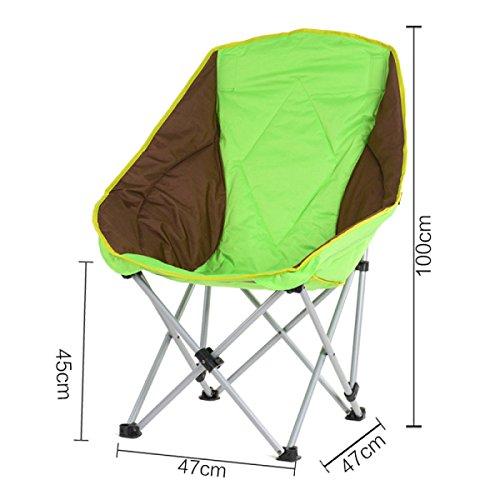 LDFN Tragbare Klappstuhl Outdoor Strandkorb Angeln Stuhl Rückenlehne Handlauf Stuhl Stuhl Camping Grill Hocker,B-47*47*100cm/1.54*1.54*3.28ft