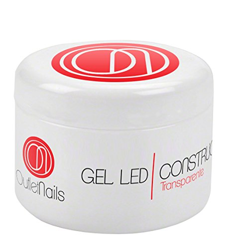 Outlet Nails Gel UV/LED de viscosité moyenne pour ongles Transparent 50 ml