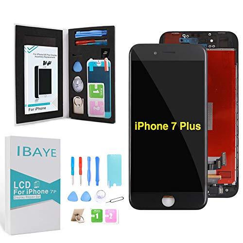 ibaye nero display per iphone 7 plus (5,5 pollici), touch screen + lcd display retina + frame per apple iphone 7 plus schermo ricambio con utensili inclusi