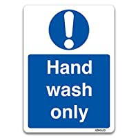 stika.co Wash only Sticker - Kitchen Safety Signs by (Hand Wash Only)