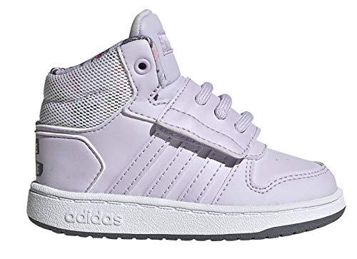 adidas Baby Jungen Hoops Mid 2.0 I Leichtathletik-Schuh, Lila Tönung/Lila Tönung/Signalkoralle, 22 EU