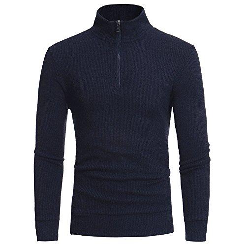 Cebbay Pulls Homme Mode Sweats, Zipper Casual Col Haut Pull Sweat Personnalité Vêtements, Automne Hiver Manteau Hauts Blouse Nouveau Cebbay