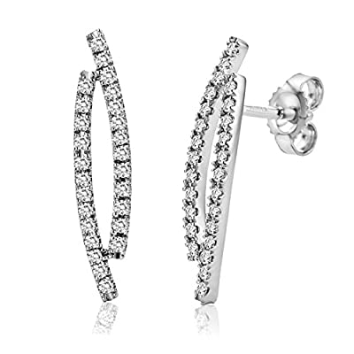 Miore M0322W 18 ct White Gold Diamond Bands 0.33 ct Diamond Earrings