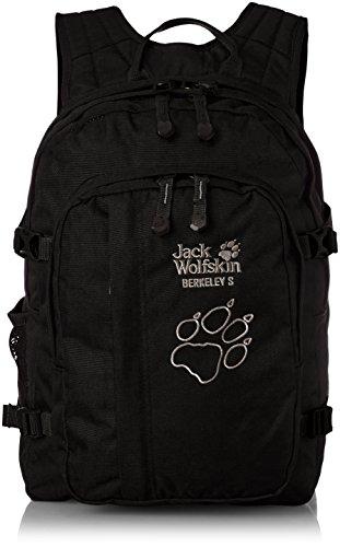 Jack Wolfskin Unisex - Kinder Rucksack Berkeley S, black, 38 x 29 x 28 cm, 23 liters, 25336-600