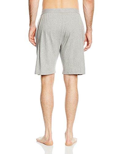 Tommy Hilfiger Herren Schlafanzughose Cotton short icon Grau (GREY HEATHER 004)