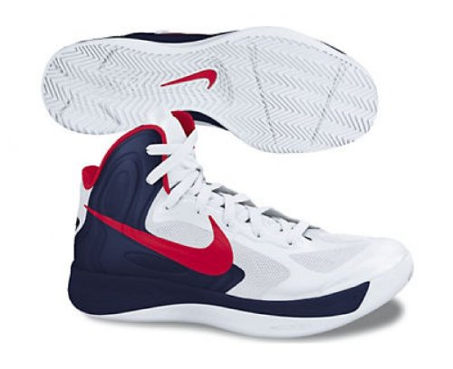 Nike Zoom Hyperfuse 2012 Basketballschuhe weiß/schwarz/rot
