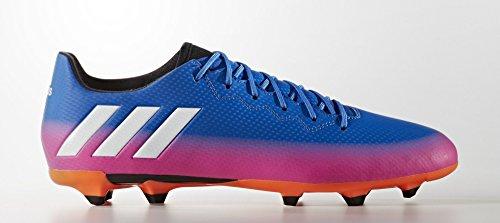 adidas Messi 16.3 Fg, Chaussures de Football Homme Bleu (Blue/ftwr White/solar Orange)