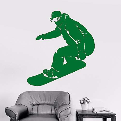 Snowboard Wandaufkleber Abnehmbare Vinyl Kunst Poster Snowboarder Extreme Aufkleber Wandbild Athlet Decor ~ 1 57 * 68 CM ()