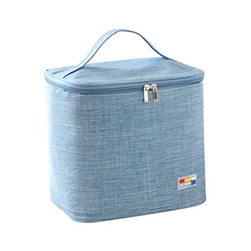 KonJin Lunch Bag Thermotasche isoliert faltbar Lunchtasche mit Fächern Mittagessen-Picknick-Kühltasche für Männer und Frauen