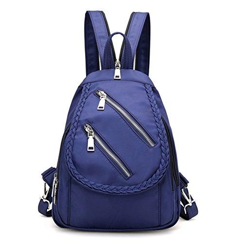 Bbdsj Damen schultertaschen,Mini-doppel-umhängetasche,Nylon [wasser-abstoßend] Damen-reisetasche Doppelte umhängetasche damen blau-Blau Blau