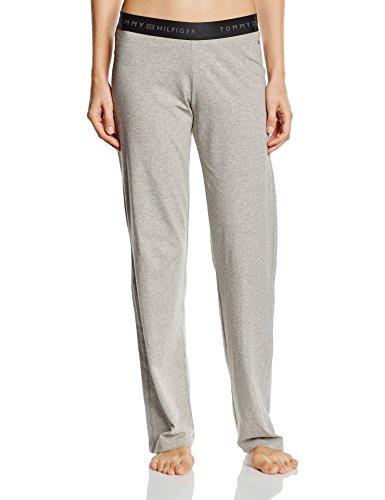 Tommy Hilfiger Cotton Pant Iconic - Bas De Pyjama - Femme Gris - Grau (GREY HEATHER 004)