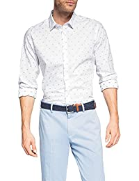 ESPRIT Collection Herren Slim Fit Businesshemd S Palm JACQ LS