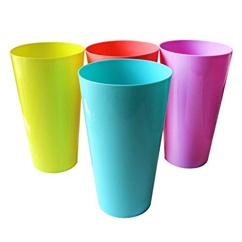 12pc 500ml plástico Vaso Set Belle manualidades-colores