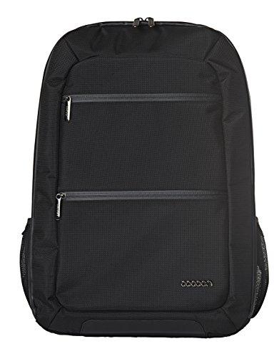 """Cocoon SLIM - Laptop Rucksack mit besonderem Organisationssystem / Praktischer Backpack für Laptops / Daypack / Rucksack für Tablet, Laptop I 2 Reißverschlussfächer / Schwarz - 10"""" Zoll & 17"""" Zoll"""