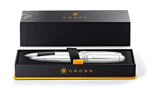 Cross AT0458-10 Bailey Set in Geschenkbox Kugelschreiber und Selectip Rollerball Glanzchrom