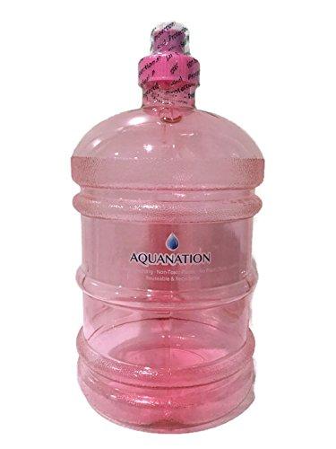 aquanation 1/2Gallonen Wasser Flasche Krug Täglich 8Polycarbonat halbe Gallone Kunststoff Sport Gym Fitness Wasser Flasche Krug Tragbarer Camping Wandern Wasser Flasche Kantine, rose