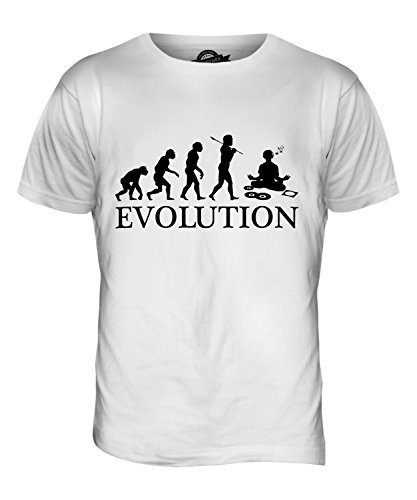 CandyMix Audiofilo Evoluzione Umana T-Shirt da Uomo Maglietta Bianco