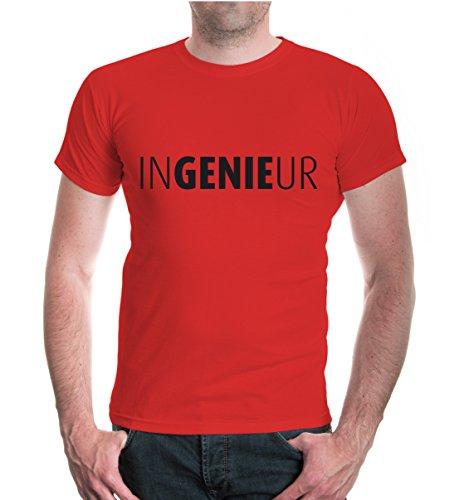 buXsbaum® T-Shirt Ingenieur Red-Black