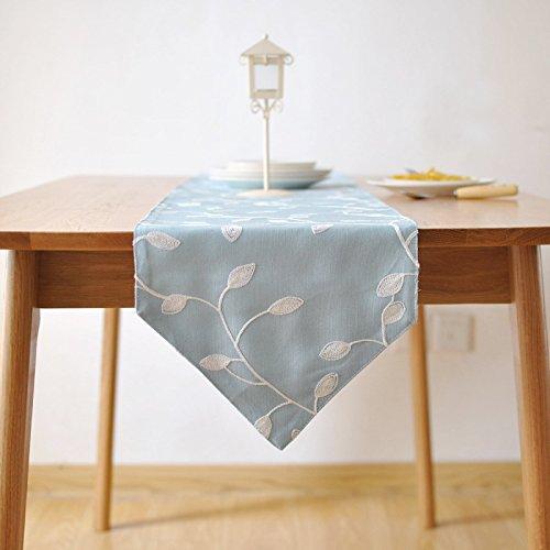 Preisvergleich Produktbild XXFFH Luxus Besticktem Stoff Tischläufer , Blue , 30*200Cm