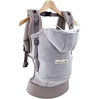 Je porte mon bebe - Love radius - hoodiecarrier coton - gris athletique
